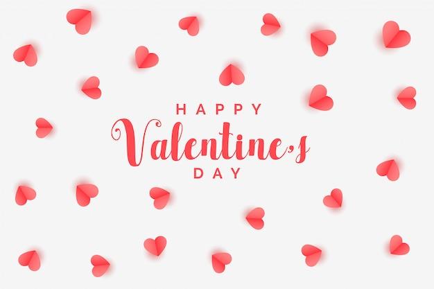 Elegant hearts pattern valentines day background