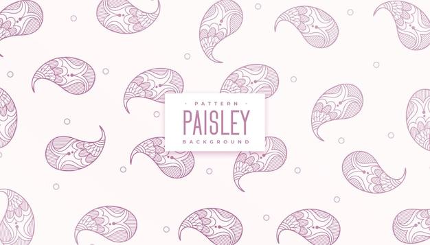 우아한 헤나 페이즐리 디자인 패턴