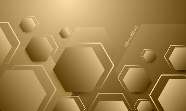 Elegant hexagon texture abstract background