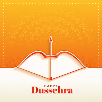 Elegant hindu happy dussehra festival greeting card