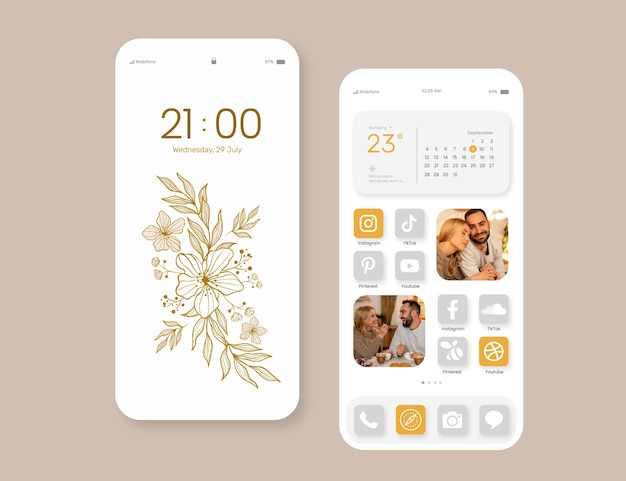 Elegant home screen interface