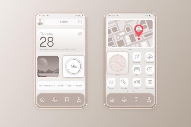 Elegant home screen template for smartphone