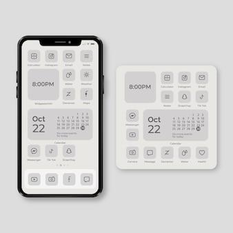 スマートフォン用のエレガントなホーム画面のテーマ