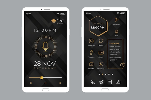 Elegant home screen