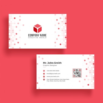 Elegant horizontal business card with front and back presentation.