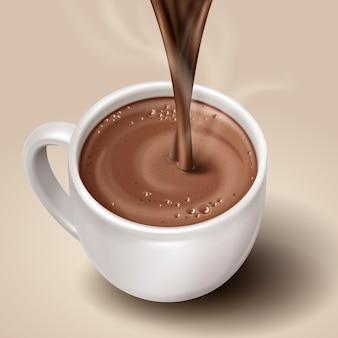 Elegant hot brown drk with smoke, realistic