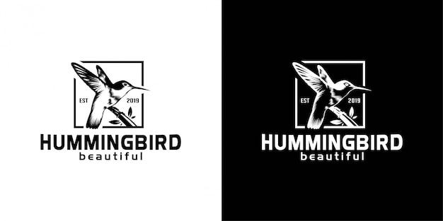 Elegant hummingbird silhouette logo