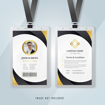 Elegant id card business office template