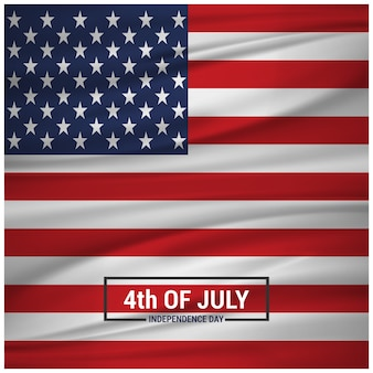 Elegant independence day design with american flag