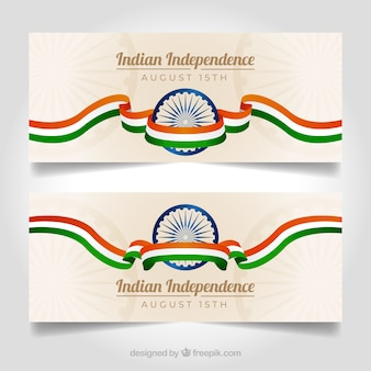Elegant india independence day banners