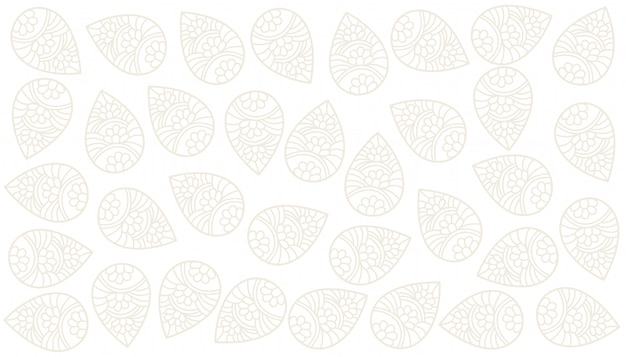 Design elegante sfondo bianco paisley indiano