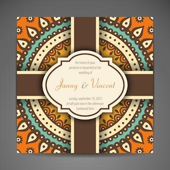 エレガントなインドの装飾カード