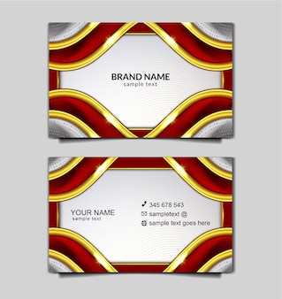 Elegant indonesia independence bussines card template