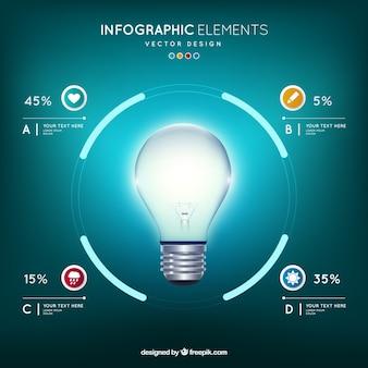 Elegante infografica del risparmio energetico