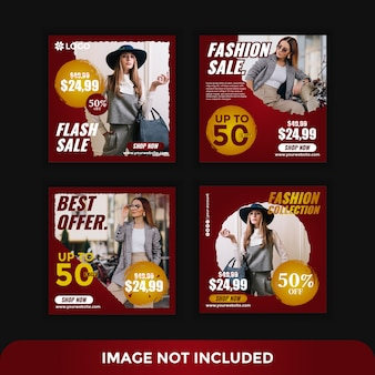 Elegant instagram post fashion style template
