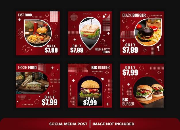 Elegant instagram post food template