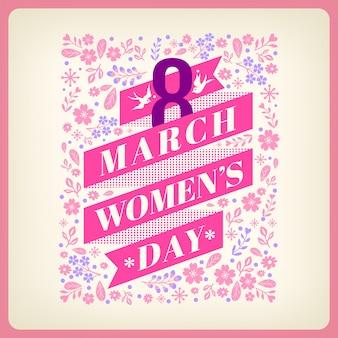 Женская день открытка с цветами фона