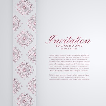 Elegant invitation background with ornamental decoration