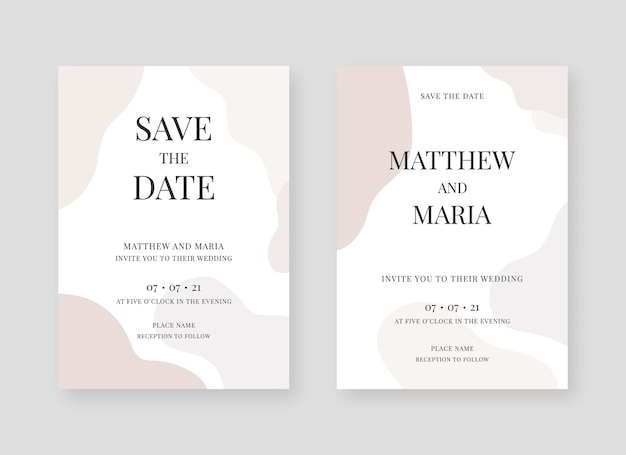 Elegant invitation card collection