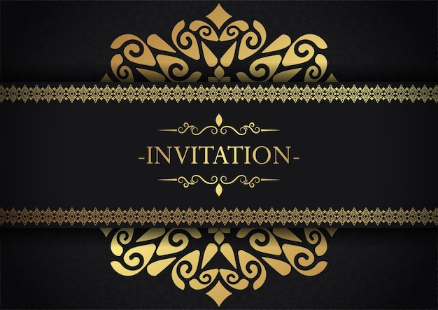 Elegant invitation decorative frame design background