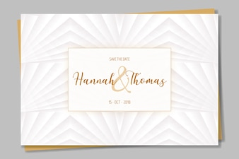 Elegant invitation in white and golden