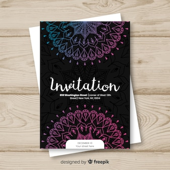 Elegant invitation mandala concept