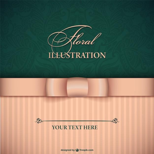 Elegant invitation with pink ribbon