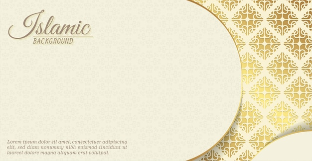Elegant islamic background with pattern motif