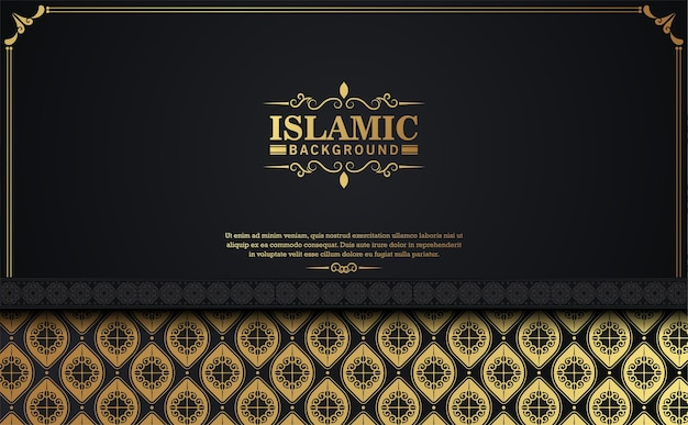 Elegant islamic pattern style dark background.