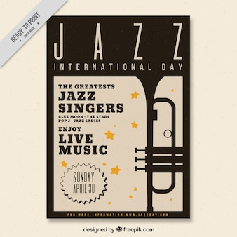 Elegant jazz brochure