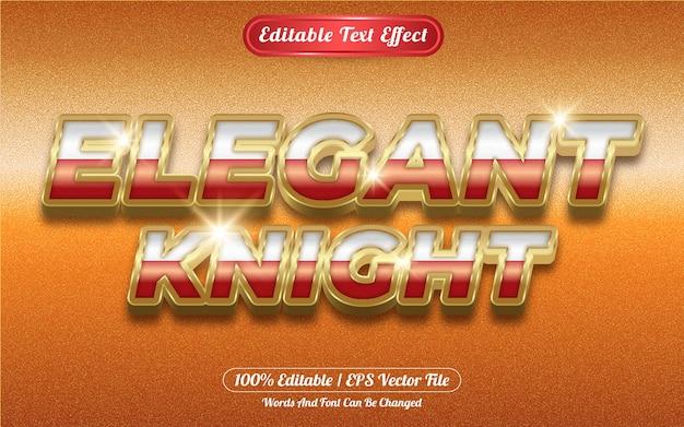 Elegant knight editable text effect golden themed