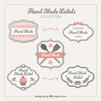 Elegant labels about crafts
