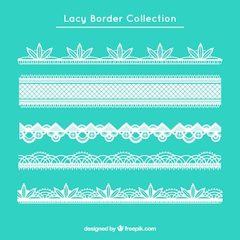 Elegant lace borders in flat design