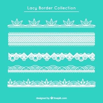 Elegant lace borders in flat design