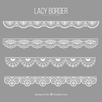 Elegant lace decorative borders