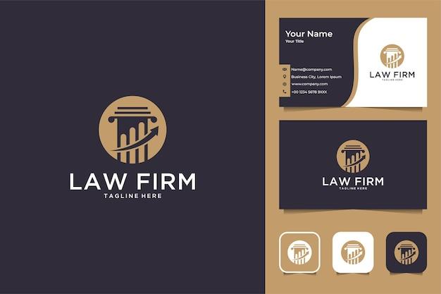 Элегантный дизайн логотипа юридической фирмы и визитной карточки