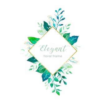 Elegant leaves frame