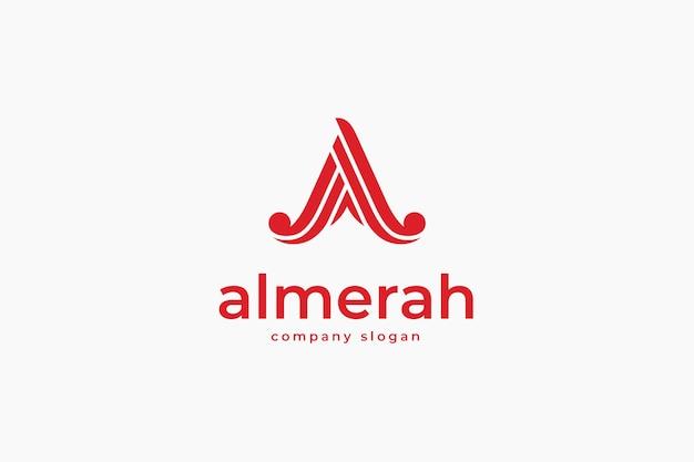 Elegant letter a logo