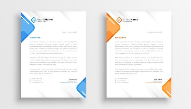 Elegant letterhead design template for your business