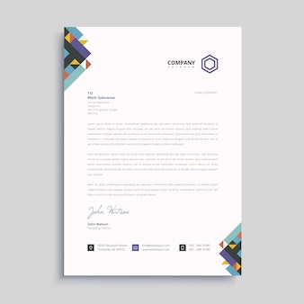 Elegant letterhead design template