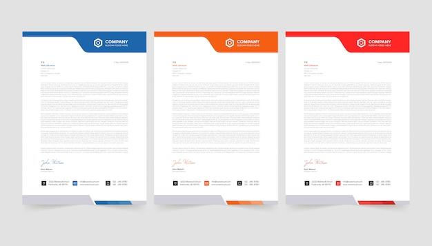 Elegant letterhead design template .