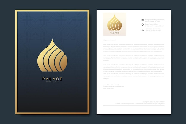 Elegant letterhead template design in minimalist style with logo.