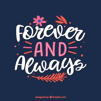 Elegant lettering and quote background