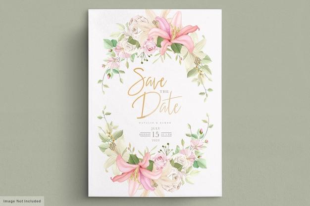Элегантный набор свадебных открыток лилии