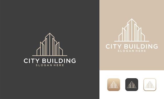 Элегантный дизайн логотипа городского здания
