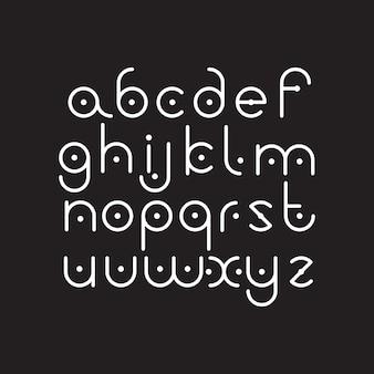 Elegant line orbed font.