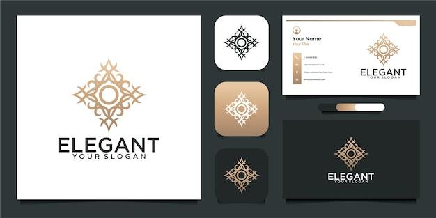 エレガントなロゴデザインと名刺