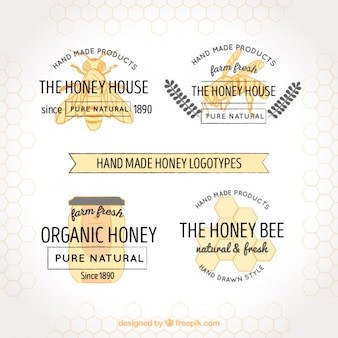 Elegant logos for honey producers
