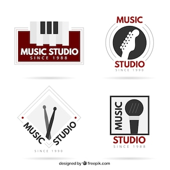 Elegant logos for a music studio