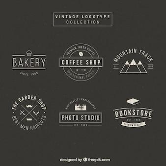 Elegant logotype collection in vintage design